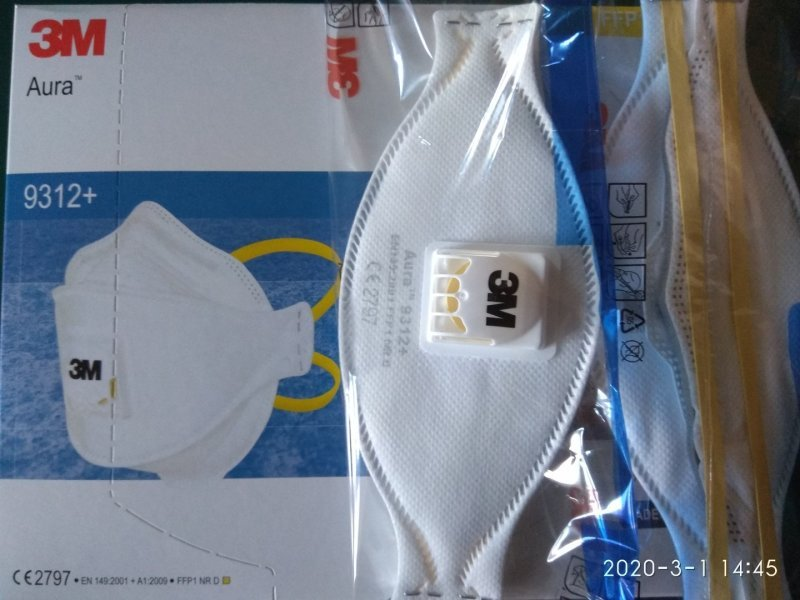 3M N95 Aura 9312+ Particulate Respirator Nose Mask (445 Pieces Left)