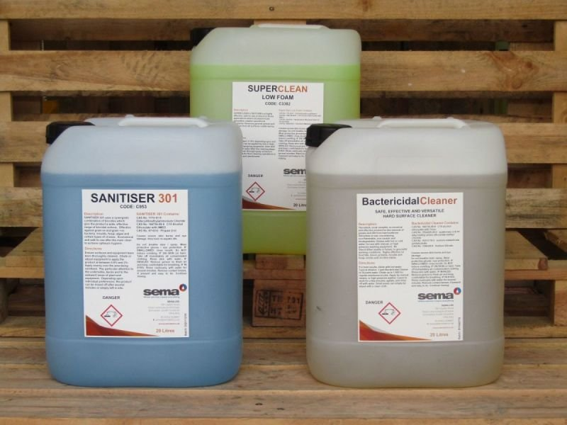 All Industry Cleaning Chemicals.