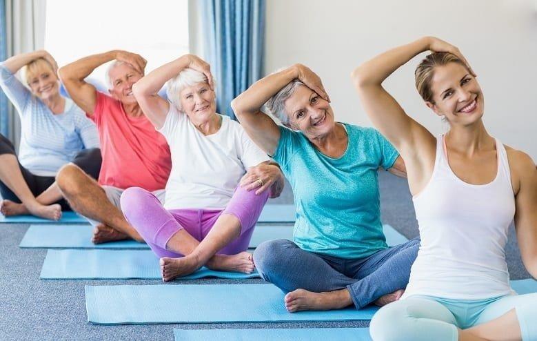 Cvičenie na rehabilitačných podložkách