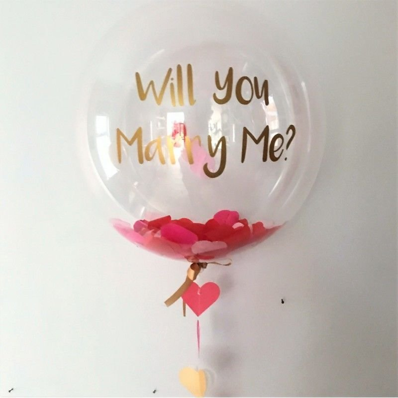 Balloons with lettering