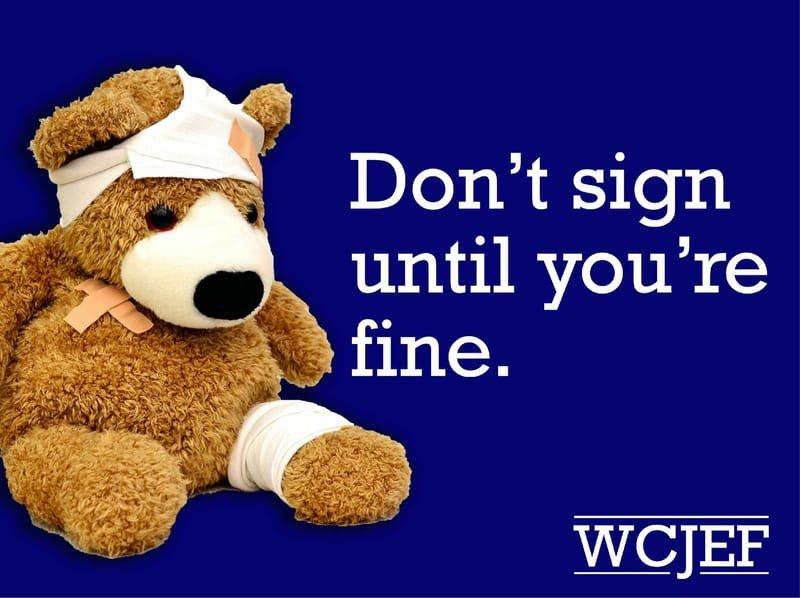 Don't Sign Until You're Fine