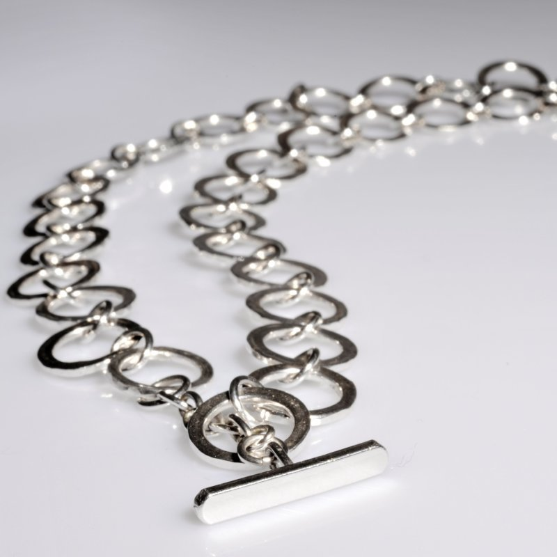 Handmade silver chain