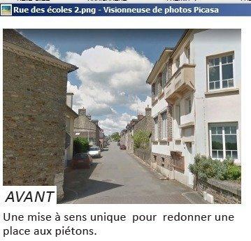 Rue des Ecoles avant les travaux