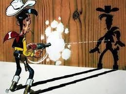 Question n°13 : Est ce que Lucky Luke peut-il vraiment tirer plus vite que son ombre ?