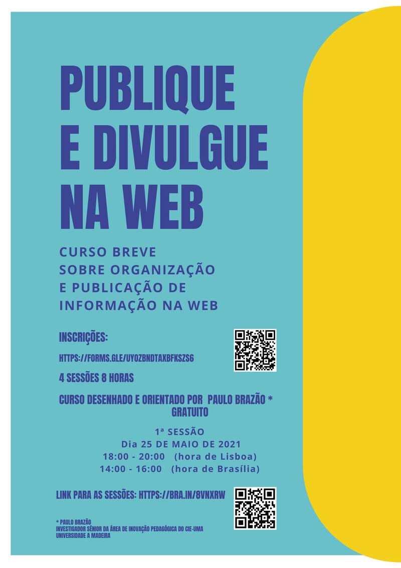 ORGANIZAÇÃO E PUBLICAÇÃO DE INFORMAÇÃO NA WEB