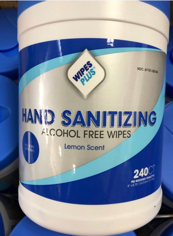JUST IN  -  Sanitizer Wipes