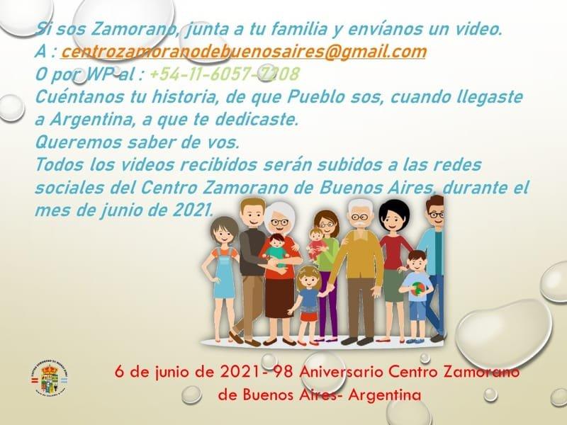 Si sos Zamorano, junta a tu familia y envíanos un video.