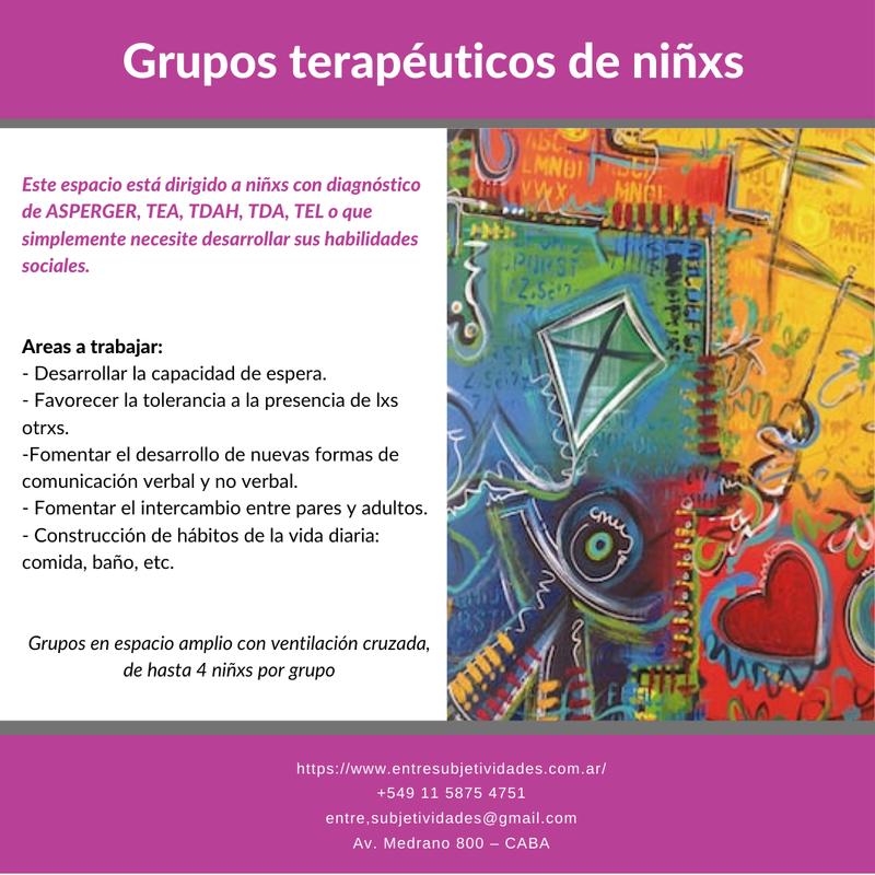 Grupos terapeuticos para niñxs