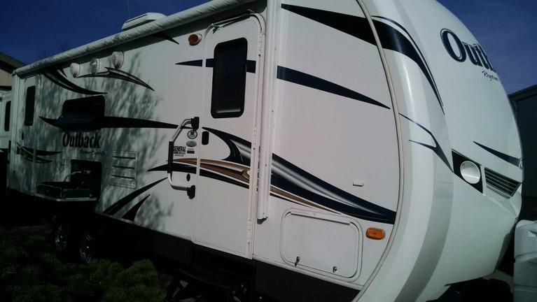 2012 Keystone Outback 250RS White