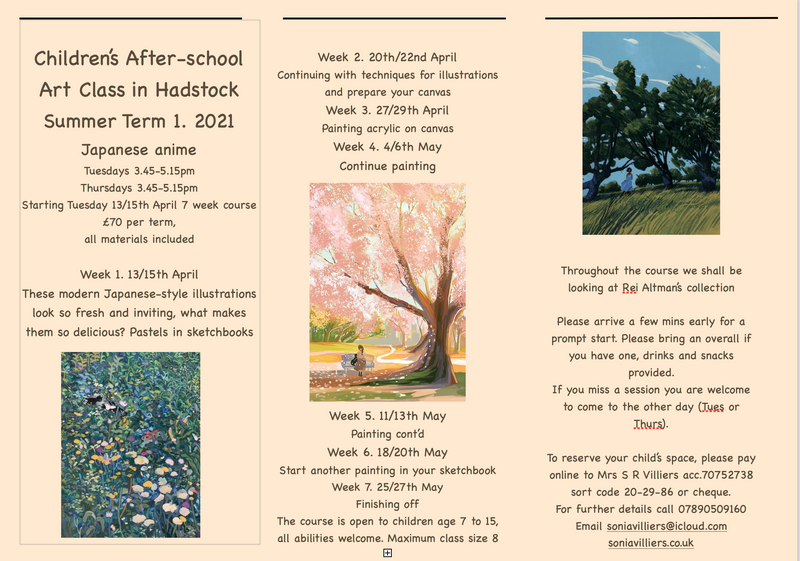 Children's After-school Art Club - Established 2016