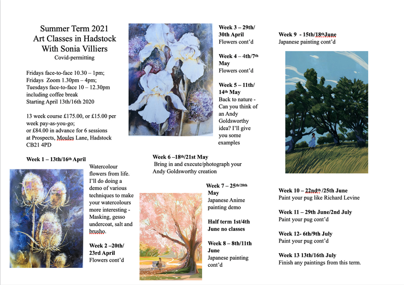 Relaxed Friendly Adult Art Classes  - Established 2009