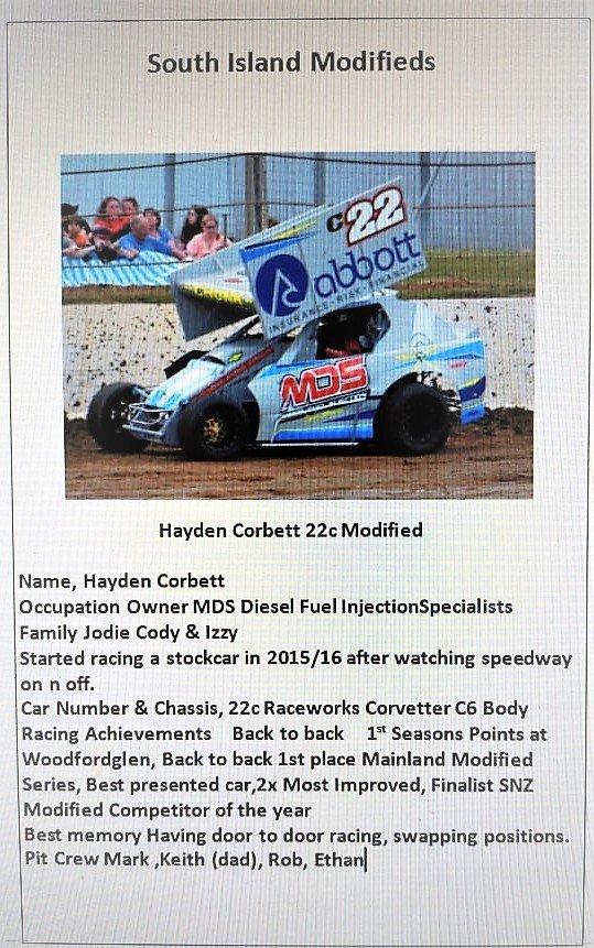 Hayden Corbett 22c Raceworks Modified