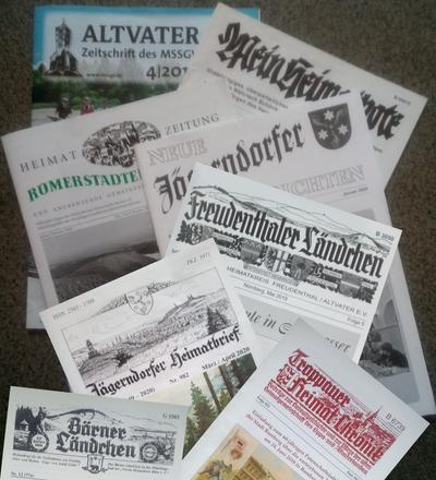 Heutige Heimatzeitungen