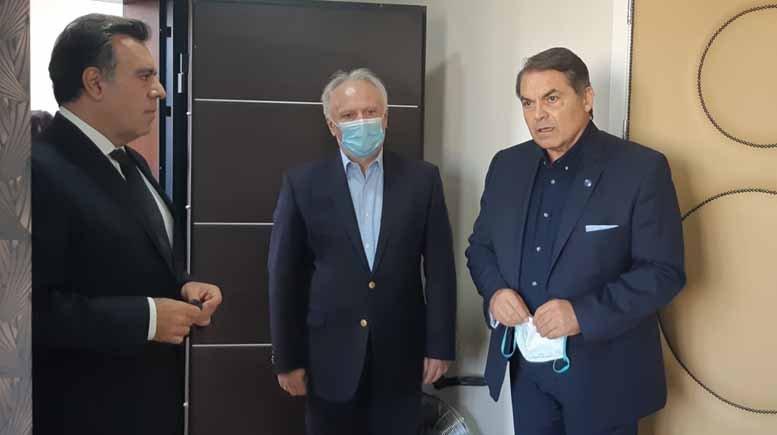 Επίσκεψη του Υφυπουργού Τουρισμού κ. Μάνου Κόνσολα στον Δήμαρχο Άργους Μυκηνών κ. Δημήτρη Καμπόσο (video)