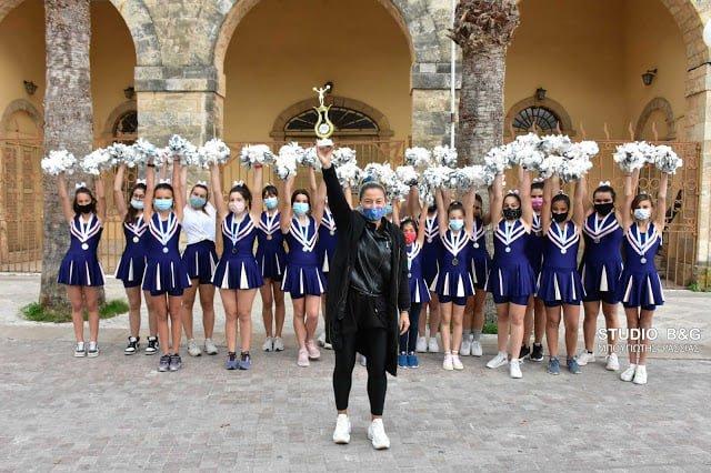 Σάββατο 7 Νοεμβρίου 2020 - Χρυσό μετάλλιο για τα κορίτσια της Χοροκίνησης στον Πανελλήνιο αγώνα αθλητικού ομαδικού χορού cheerleading (Olympus)