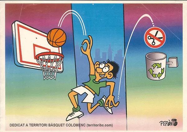 """Dibuix exclusiu del dibuixant colomenc """"Pepònio"""" (Antoni Jaumandreu) dedicat a www.territoribc.com (2011)"""