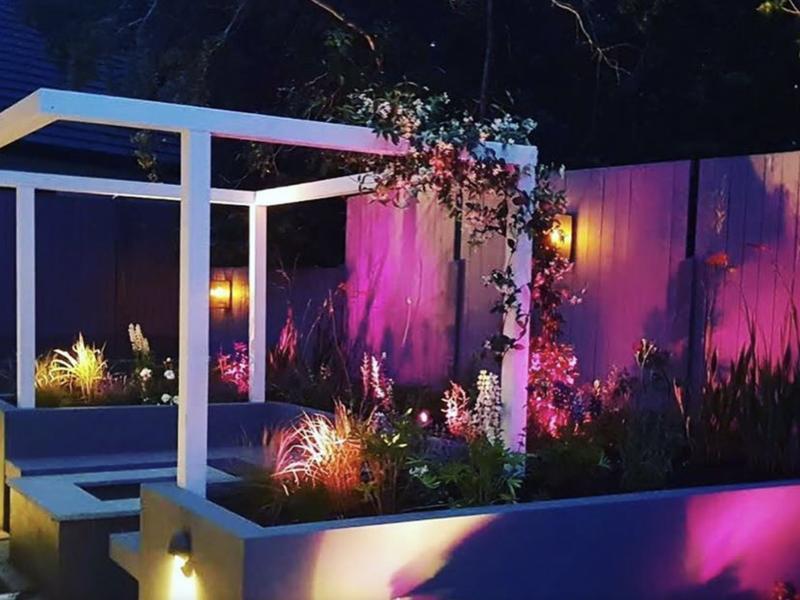 Outdoor space lighting design & installation