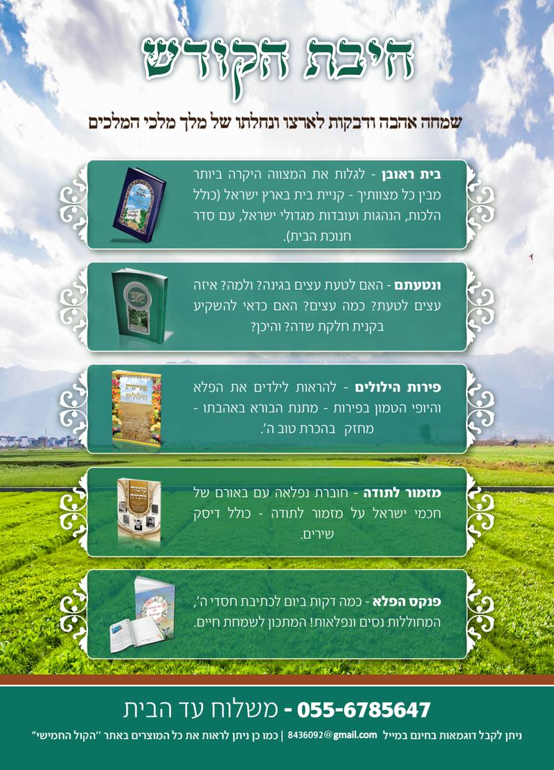 מאמרים על ארץ ישראל