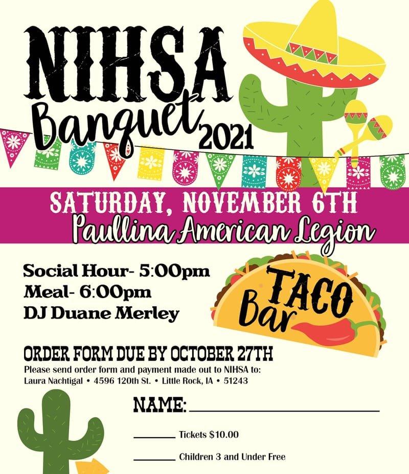 2021 NIHSA Banquet Info