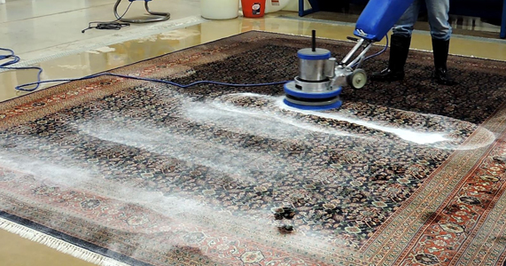 Steam rug cleaning