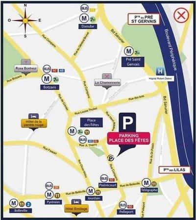 Parking pas cher Paris 19eme