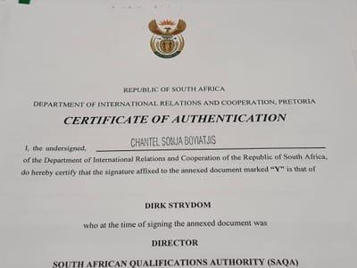 Document Authentication Services Pretoria