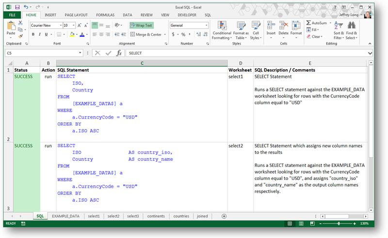Excel SQL Utility