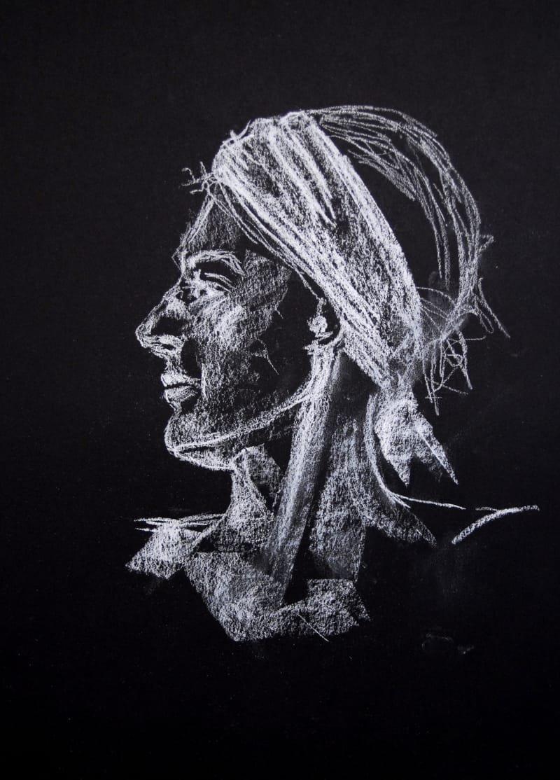 Femme au ruban