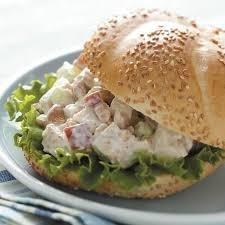 Chicken & Apple salad sandwich